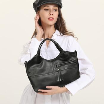 2020 Spring New Leather Women's Bag Fashion One-shoulder Bag Original Stitching Women's Bag