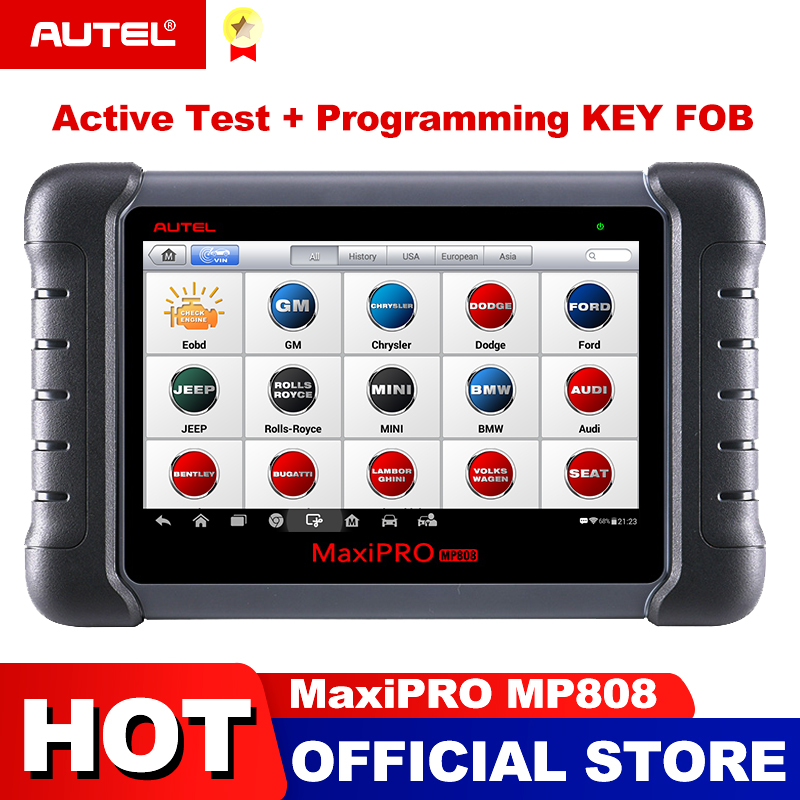 Autel MaxiPRO MP808 Diagnostic Tool OBD2 Professional OE level OBDII Diagnostics Tool Key Coding PK Autel DS808 DS708 MS906 Pro-in Engine Analyzer from Automobiles & Motorcycles