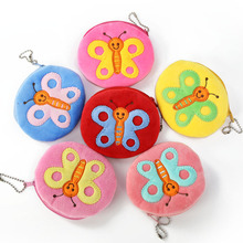 Hot On Sale Kawaii Cartoon insect/butterfly Children Plush Coin Purse Zip Change Purse Wallet Kids Girl Women For Gift