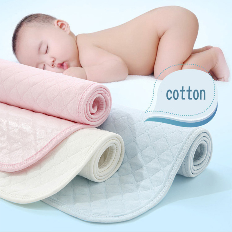 Baby Crib Mattress Cotton Breathable Baby Lounger Waterproof Sheets Mattress Baby Diapers Pad Can Be Washed Folded And Reused