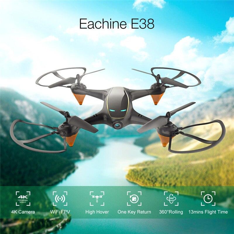 Eachine E38 WiFi FPV mit 480P Kamera 1 Batterie Video Höhe Halten Tragbare RC Drone Quadcopter Aircraft Spielzeug