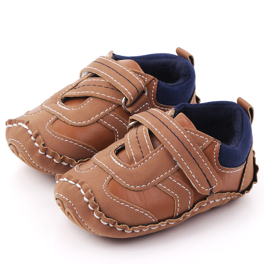 Fashion Leather Baby Shoes For Baby Boy Shoes Toddler Shoes Newborn Winter Active Warm First Walkers Baby 2019 детская обувь
