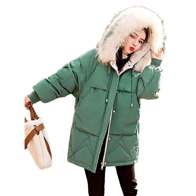 Fausse fourrure Parkas femmes coton veste nouveau 2019 hiver veste femmes épais neige porter à capuche manteau grande taille femme vestes Parkas