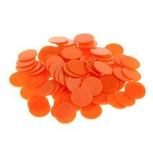 300 шт 25 мм скошенная пластиковая монета чип деньги самолет безграничный оранжевый