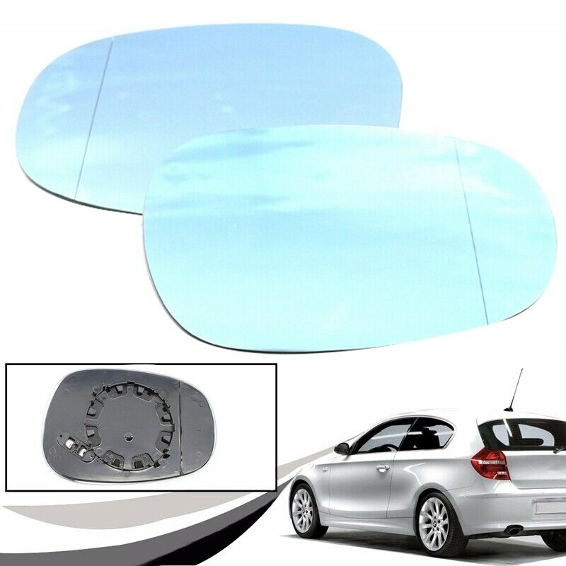 BMW 1 SERIES E82 COUPE 118i 2010 DOOR WING MIRROR GLASS BLUE HEAT LEFT