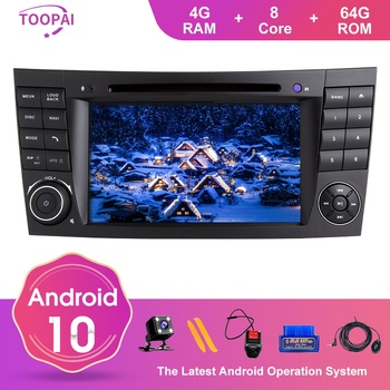 TOOPAI Android 10 For Mercedes Benz E-Class W211 E300 CLK W209 CLS W219 2002-2009 Navigation GPS Multimedia Player Auto Radio image