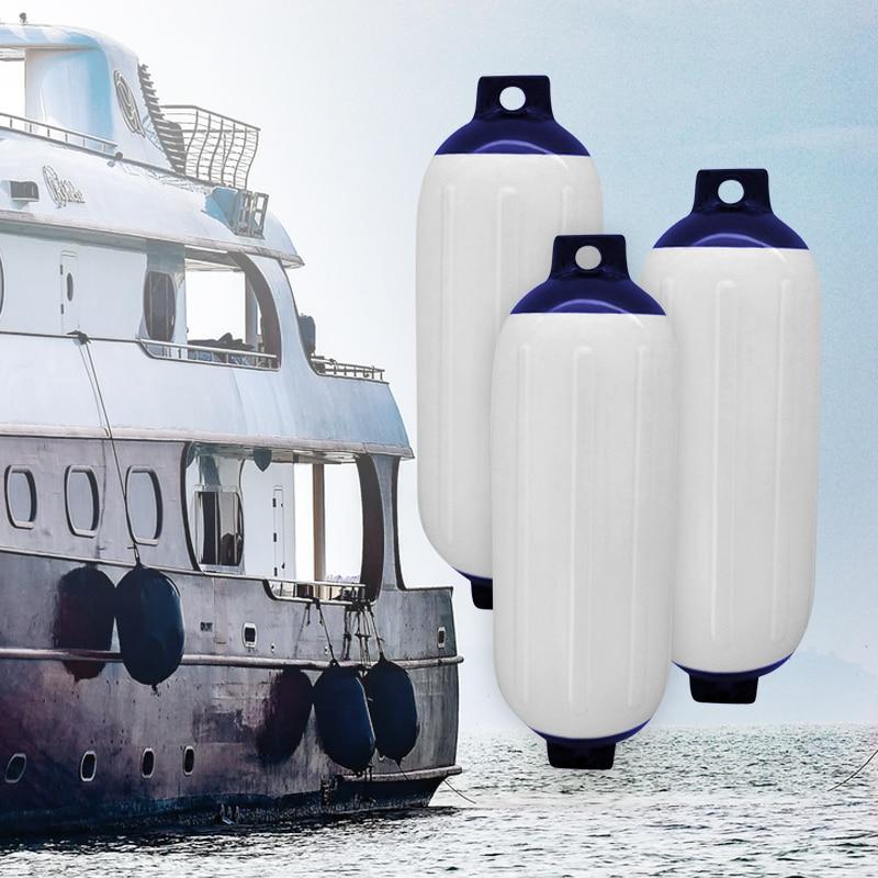 3 uds guardabarros de barco de vinilo acanalado parachoques inflable protector de muelle marino Anti-UV PVC 11x40cm para accesorios de lancha