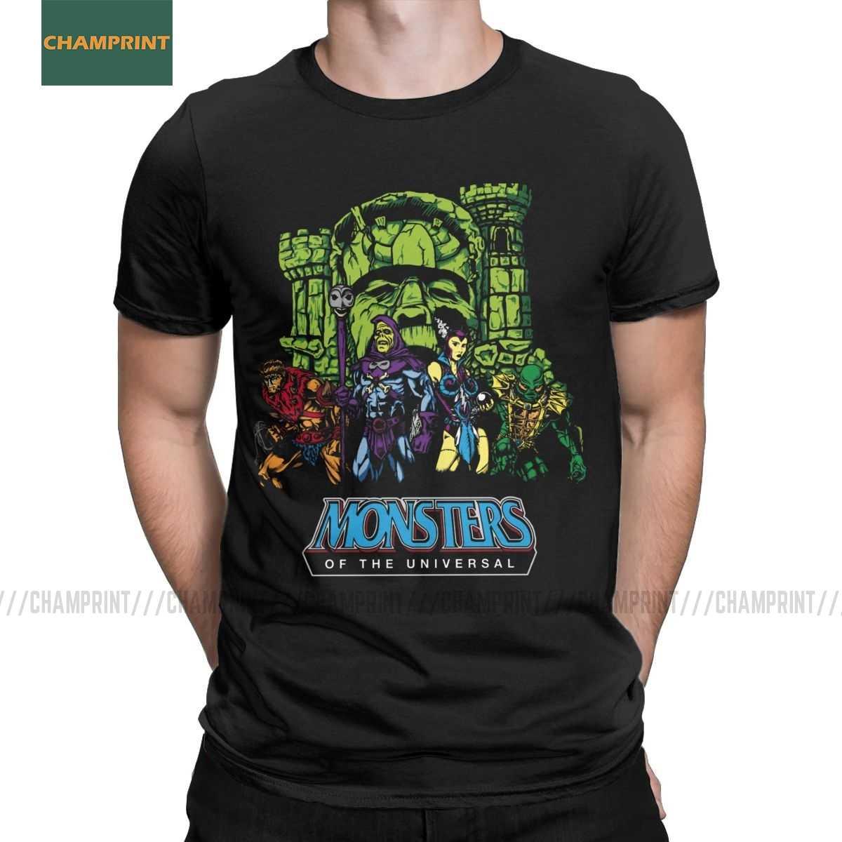 Mostri Della Universal He-Man Masters Of The Universe Uomini T Camicette Skeletor 80s She-Ra bestia Tee Manica Corta T-Shirt In Cotone