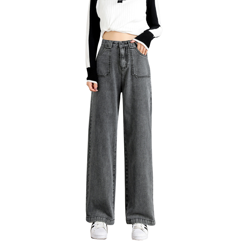 Wide Leg Jeans Woman High Waist Denim Pants Ladies Trousers Vintage Loose Casual Bell Bottom Jeans Vaqueros Mujer 910