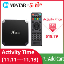X96 미니 X96 미니 스마트 TV 박스 안드로이드 7.1 2GB/16GB TVBOX X 96 미니 Amlogic S905W H.265 4K 2.4GHz WiFi 미디어 플레이어 셋톱 박스