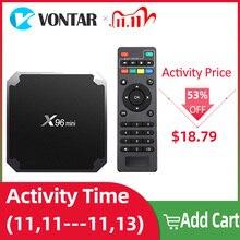 X96 מיני X96mini חכם טלוויזיה תיבת אנדרואיד 7.1 2GB/16GB TVBOX X 96 מיני Amlogic S905W H.265 4K 2.4GHz WiFi מדיה נגן ממיר