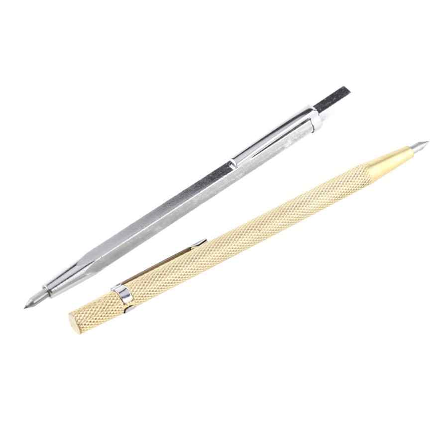 Elmas Metal markalama gravür kalem Tungsten karbür uçlu Scriber kalem cam seramik Metal ahşap oyma kazıma el aletleri 1p