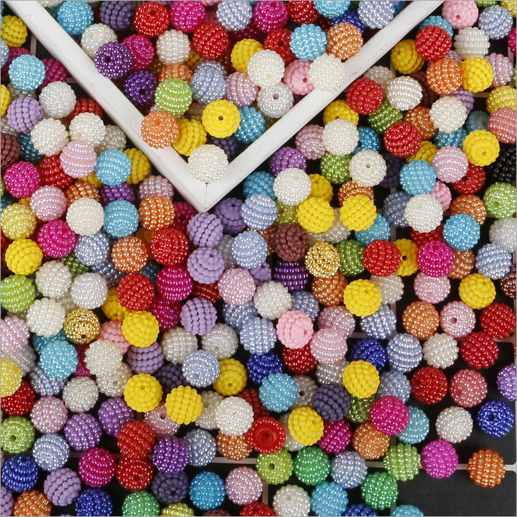 10mm 50pcs Acrylic Beads Bayberry Beads DIY Handmade Material Hair Accessories Headwear Accessories(China)