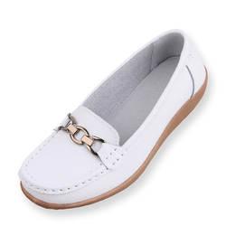 Новинка; сезон осень; стильная женская кожаная обувь; модная женская обувь на плоской подошве; Повседневная Нескользящая рабочая обувь;