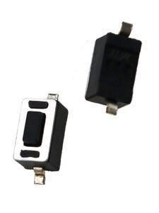 JCD Micro-Switch Power-Button 1PCS 3x6x4.3mm Black White Dip/smt 2pin-Key