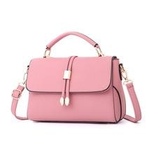 купить Fashion Crossbody Messenger Bag for Women PU Leather Candy Color Shoulder Bag Handbag Cross Body Solid Color Messenger Bag по цене 976.97 рублей