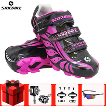 Sidebike  Cycling Shoes Sapatilha Ciclismo Mtb women sneakers Professional mountain Bike Bicycle Self-Locking Athletic Riding sidebike cycling shoes road men carbon sapatilha ciclismo mtb bike shoes zapatos bicicleta sneakers self locking white 2019 new