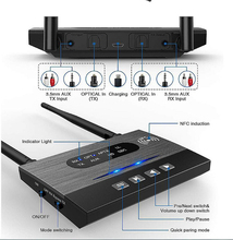 Fiber Optic Bluetooth 5.0 Receiver Wireless Audio Adaptation Speaker Sound Amplifier Launch Turn TV Computer Auxhd