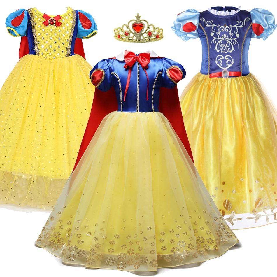 3 4 5 6 7 8 9 10 ans robe de princesse pour filles Cosplay neige blanc Costume Summe enfants fête danniversaire vêtements courts enfants