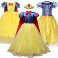 3 4 5 6 7 8 9 10 jahre Alt Prinzessin Kleid für Mädchen Cosplay Schnee Weiß Kostüm Summe Kinder geburtstag Party Kurze Kleidung Kinder