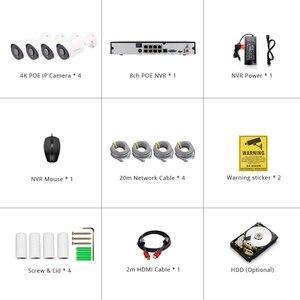 Image 5 - Система видеонаблюдения Sony IMAX415 H.265, 4 канала, 4K POE, 8 каналов, уличный водонепроницаемый видеорегистратор, IP камера с аудио и сигнализацией, p2p