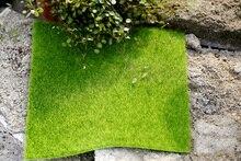จำลองสีเขียวสนามหญ้าทุ่งหญ้า Lichen Moss เท็จ Miniature DIY ถ่ายภาพพื้นหลังเครื่องประดับอุปกรณ์เสริม Photo Studio