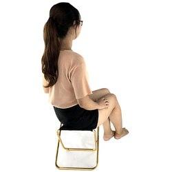 Новый обновленный складной табурет из алюминиевого сплава ультра-светильник портативный маленький стул для отдыха на открытом воздухе про...