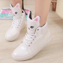 Autumn Women Shoes Fashion Flat Casual Shoes Sneakers High Heels Cat  Increased Internal platform Loafers High Top Shoes Woman цена 2017