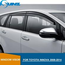 цена на Side Wind Deflector For Toyota Innova 2008 2009 2010 2011 2012 2013 2014 Window Visor Vent Shade Sun Rain Deflector Guards SUNZ