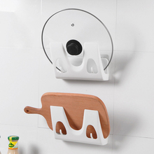 Lid-Shelf Chopping-Board Multifunctional-Holder Punch-Free Hanger-Rack Storage-Cover