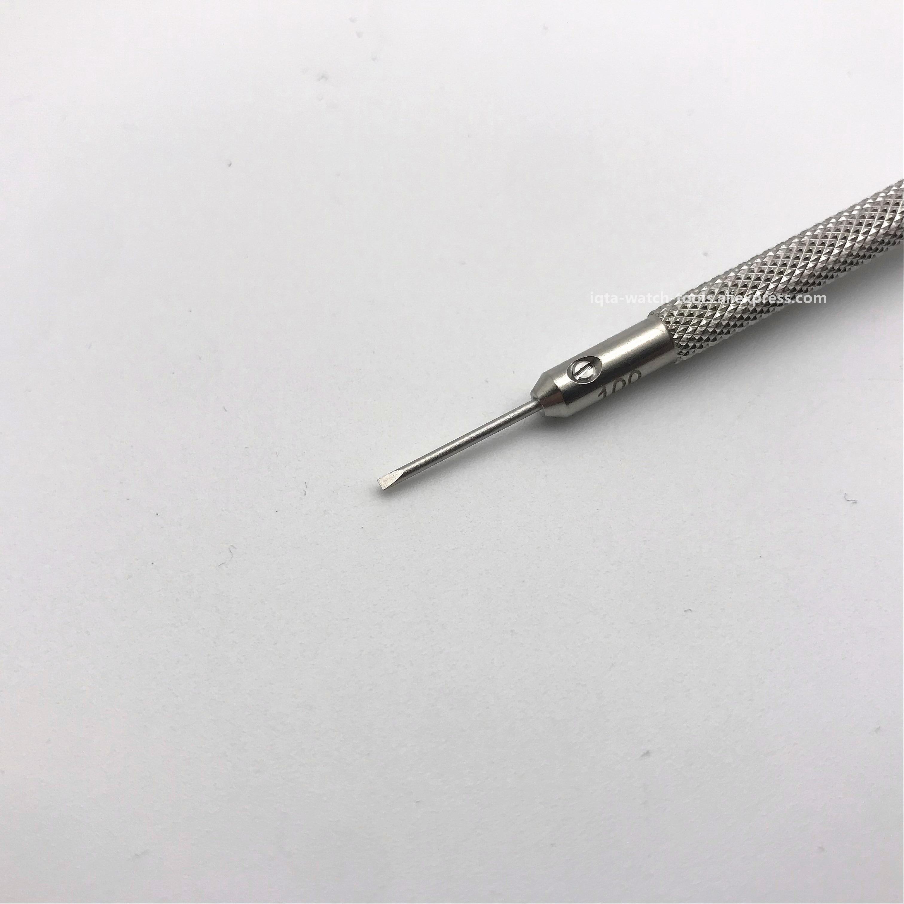 2pcs Premium Stainless Steel 0.8mm//1mm Screwdrivers Set Watchmaker Tools