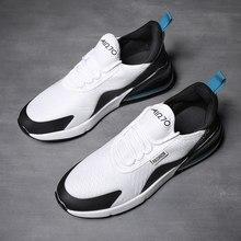 Sapatos casuais masculinos de dois tons respirável 45 amortecimento almofada de ar casal tênis de corrida esportes ao ar livre feminino 46