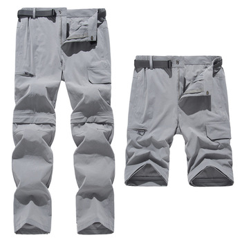 2020 New Men Quick Dry Outdoor Pants Removable Stretch Hiking Pants Summer Breathable Camping Hunting Climbing Trekking Pants new outdoor pants men women camping hiking mujer softshell pantalon hombre climbing camouflage thermal trekking hunting trousers