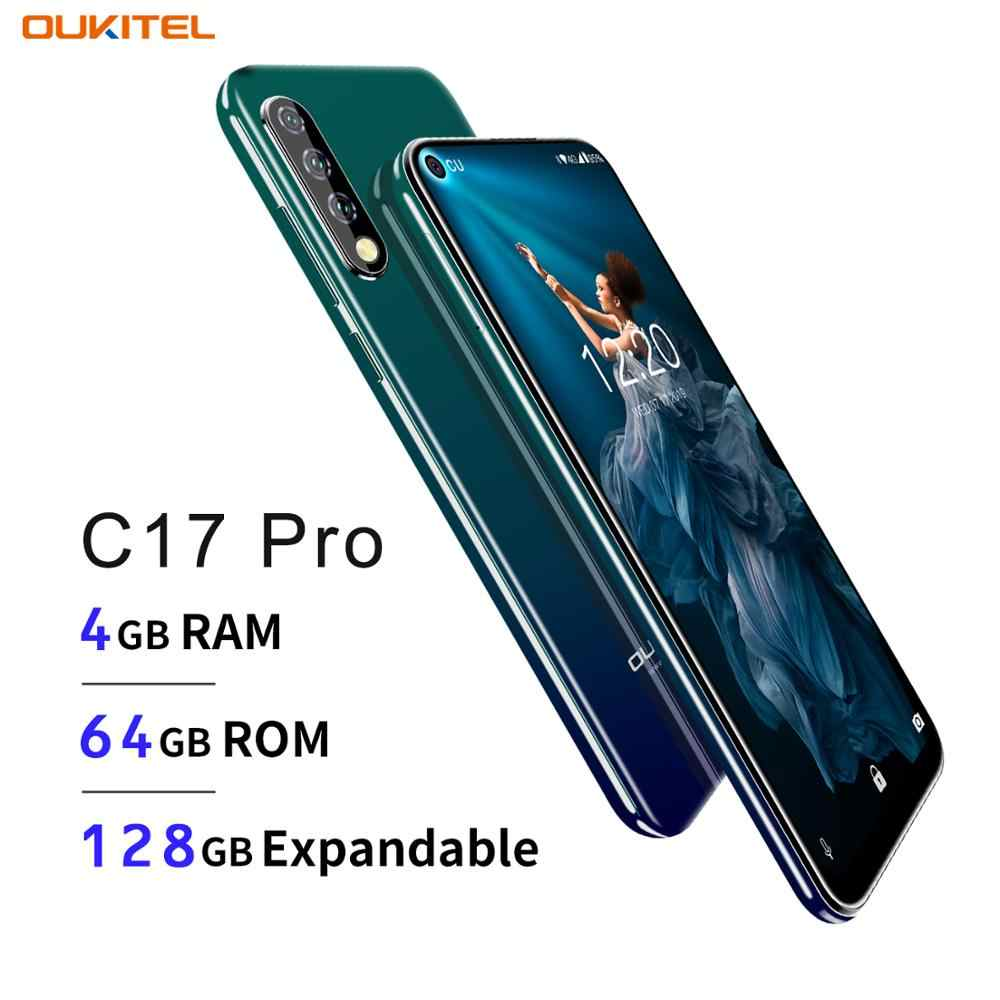 "OUKITEL C17 Pro 6.35 ""19:9 Android 9.0 téléphone portable MT6763 Octa Core 4G RAM 64G ROM empreinte digitale 3900mAh Triple caméra Sma"