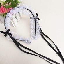 Japonês do vintage doce lolita laço cinta arco headwear empregada doméstica cabelo banda diário acessórios de cabelo hairbands