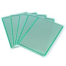 5 pces 8x12cm único lado cobre protótipo pcb 8*12cm placa de fibra de vidro da placa de circuito impresso universal para arduino placa de solda