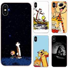 Soft Fashion Original Cartoon Calvin And Hobbes Movie Printed For Apple iPhone 4 4S 5 5C 5S SE 6 6S 7 8 11 Plus Pro X XS Max XR(China)