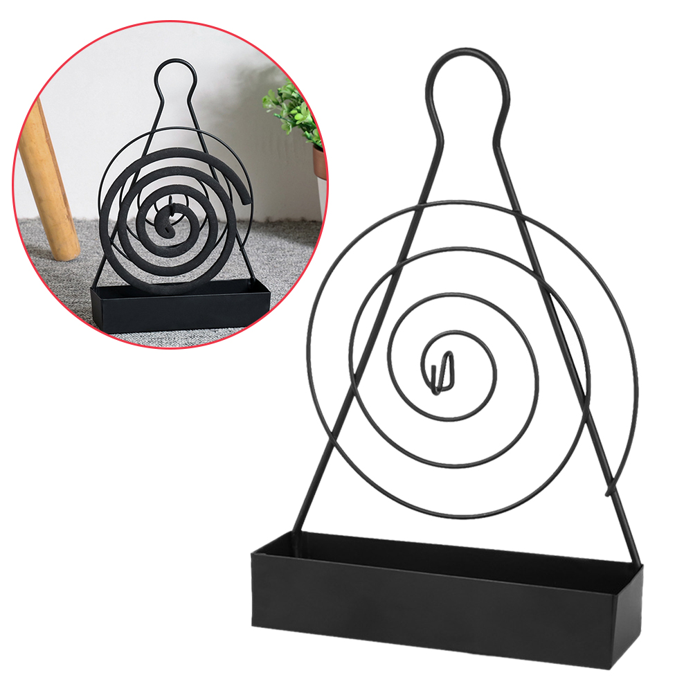 Anti Slip Mosquito Coil Holder Burner Incense Hanging Heat Resistant Living Room Garden Safe Home Decoration Iron Art Retro(China)