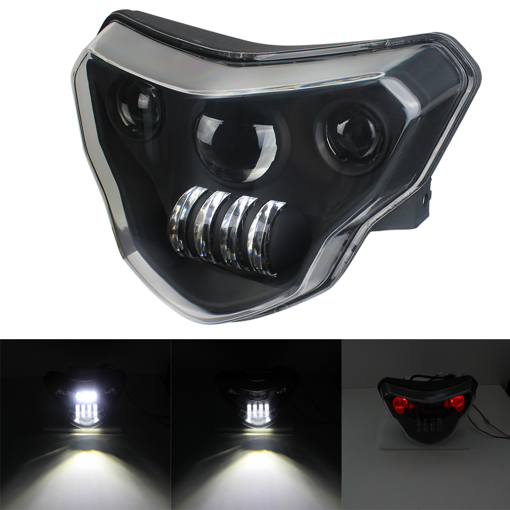 New Generation <font><b>LED</b></font> <font><b>Headlights</b></font> For <font><b>BMW</b></font> G310GS G310R G 310 GS R 310GS Motorcycles Lights with Complete Devil eyes <font><b>Assembly</b></font> Kit image