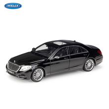 WELLY 1:24 Mercedes Benz S-Class  sports car simulation alloy model crafts decoration collection toy tools gift