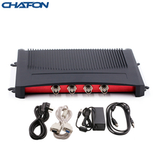 CHAFON Impinj R2000 고정 uhf rfid 리더 RS232 RJ45(TCPIP) USB 인터페이스가있는 4 포트 스포츠 타이밍 시스템 용 무료 SDK 제공