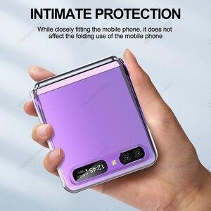 Image 5 - Grma Originele Huidvriendelijk Clear Crystal Hard Pc Back Cover Voor Samsung Galaxy Z Flip Case Sm F700F Voor Galaxy Z Flip Telefoon