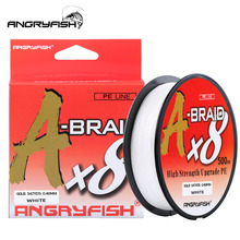 Angryfish A Braid X8 Fishing Line 527YDS/500M 8 Strands Braided Fishing Line Multifilament PE Line 8 Weaves Strong Braided Wire