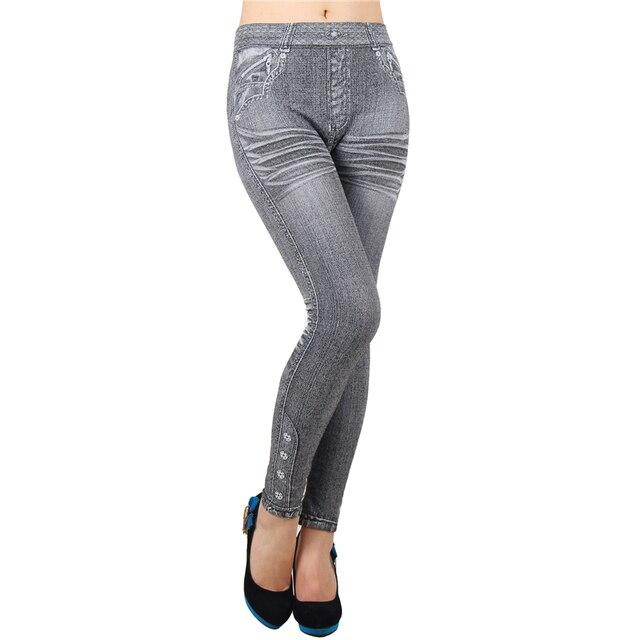 One Size Leggings Jeans Mid Waist Ankle-Length Solid Fashion Feminina Legins Jeans For Women Seamless Slim Leggings Women T2418 4