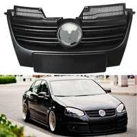 Araba ön tampon ızgarası ızgara Volkswagen Jetta için MK5 2006 2007 2008 2009 2010 siyah