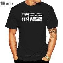 Camiseta de algodón con estampado divertido para hombre y mujer, Camiseta con estampado de demolición, ranch, los derechos de los Estados Unidos a los brazos, 100%