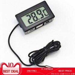 Lcd digital termômetro higrômetro sonda geladeira congelador termômetro termográfico para controle de temperatura geladeira-50 ~ 110 c
