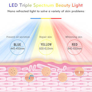 Image 3 - 3 Colors LED Light Therapy Face Mask Beauty Instrument Facial SPA Treatment Anti aging Acne Wrinkle Removal Skin Tighten Beauty