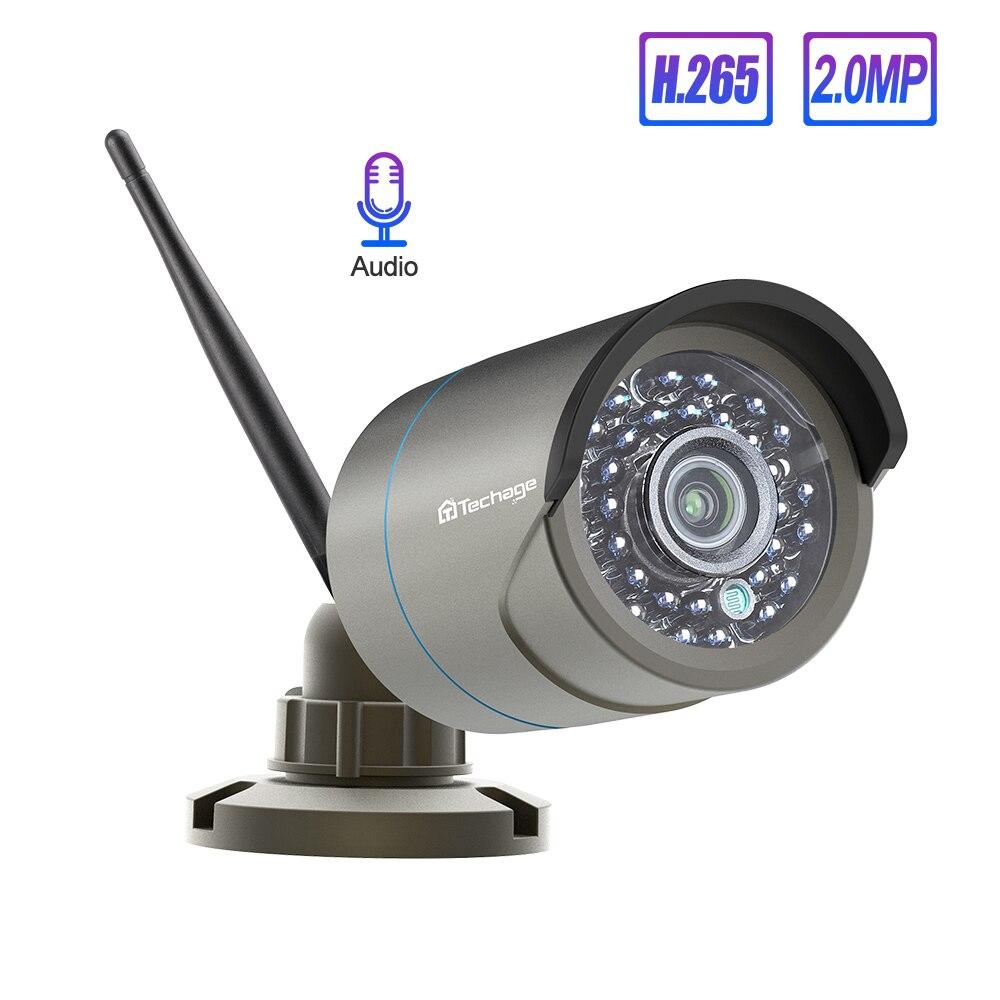 Techage 1080P kamera bezprzewodowa Audio wodoodporny kamera wifi do monitoringu dla Techage bezprzewodowy system cctv zestawy IP Pro aplikacji zdalny podgląd