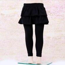 Однотонная юбка-штаны; юбка-брюки для девочек; штаны для малышей; спортивная эластичная многослойная юбка-пачка; повседневная детская одежда
